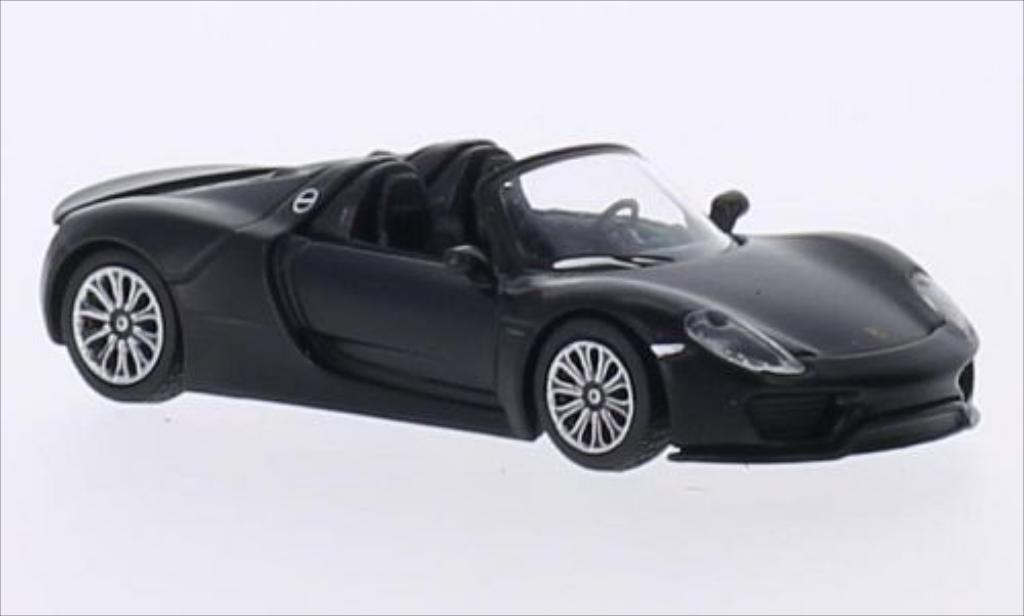 Porsche 918 1/64 Schuco Spyder matt-black diecast model cars