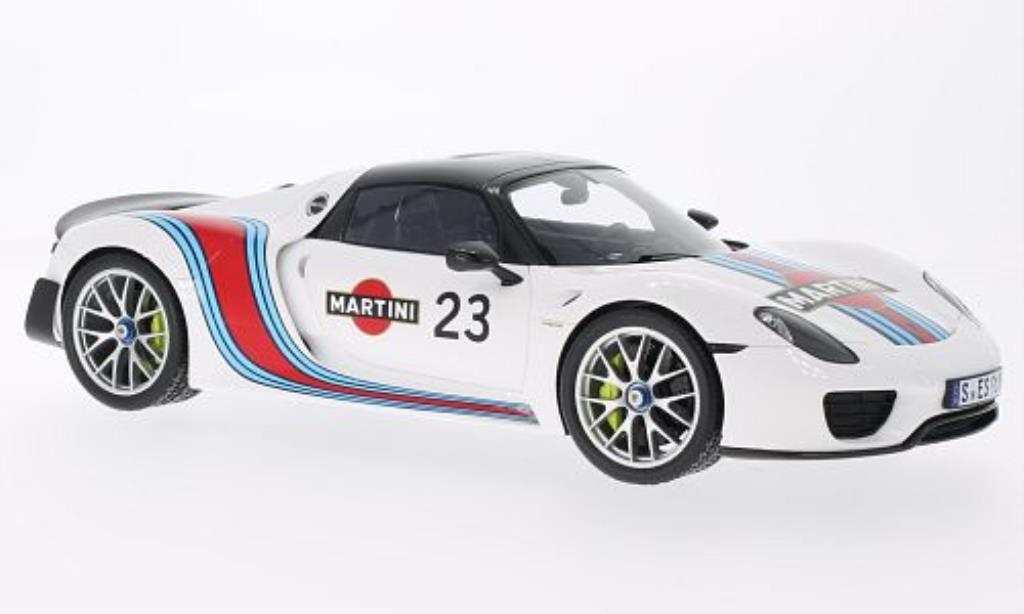 Porsche 918 1/18 Spark Spyder No.23 biancaach Package miniatura