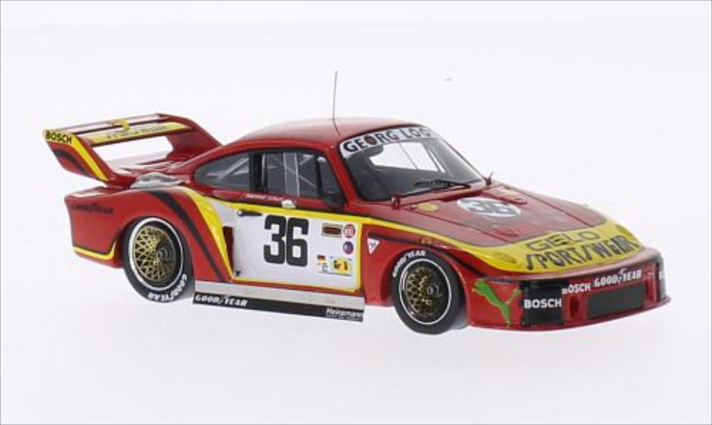 Porsche 935 1/43 Spark No.36 Georg Loos Gelo Sportswear 24h Le Mans 1979 /H.Heyer miniature