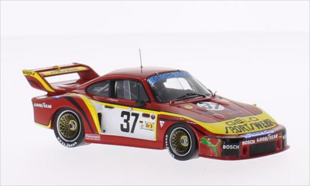 Porsche 935 1/43 Spark No.37 Georg Loos Gelo Sportswear 24h Le Mans 1979 /H.Grohs miniature