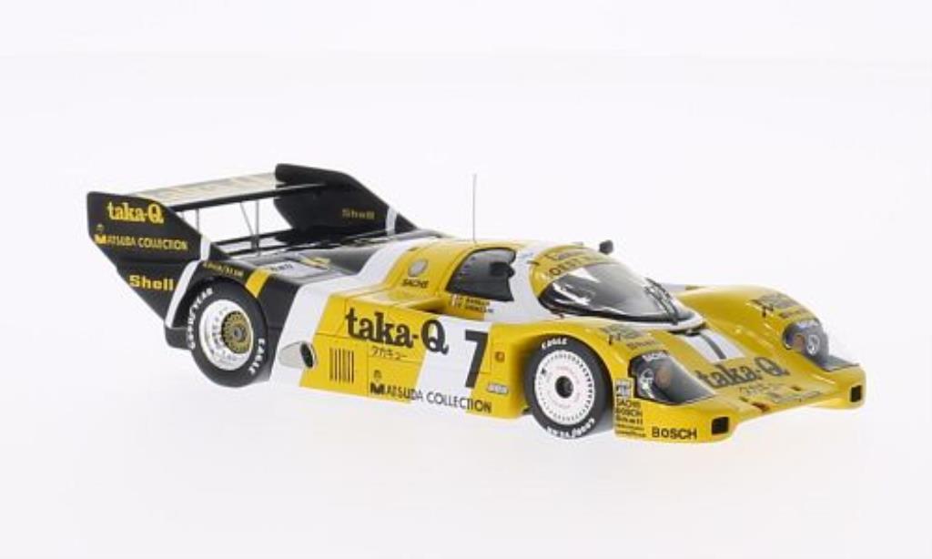 Porsche 956 1986 1/43 Spark No.7 Taka-Q 1000km Fuji /P.Ghinzani miniature