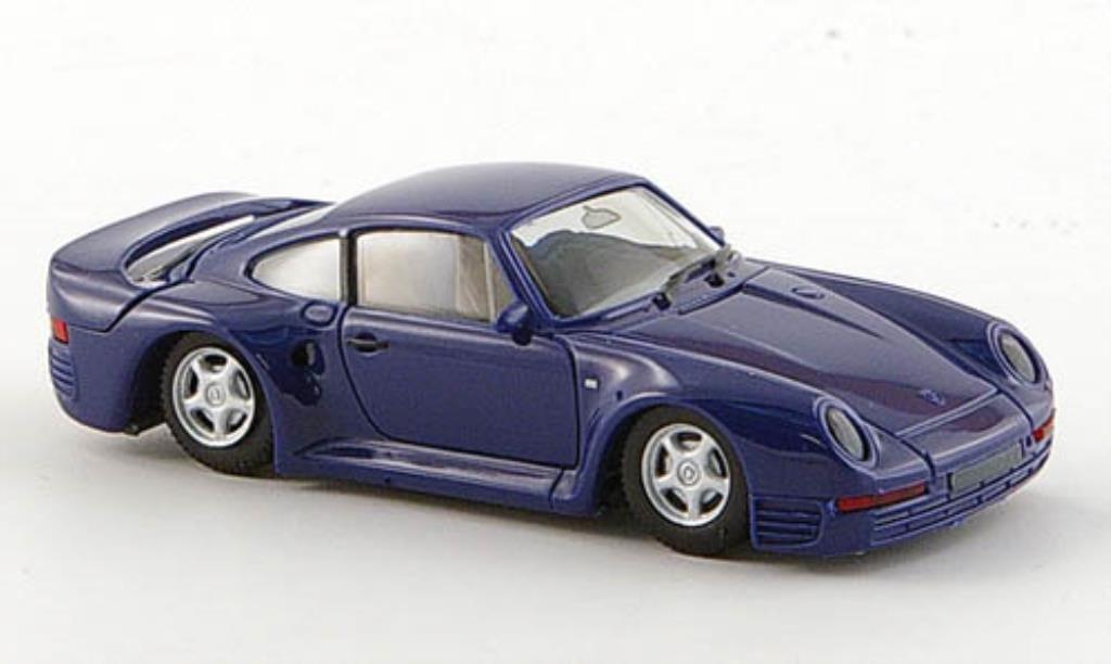 Porsche 959 1/87 Herpa bleu miniature