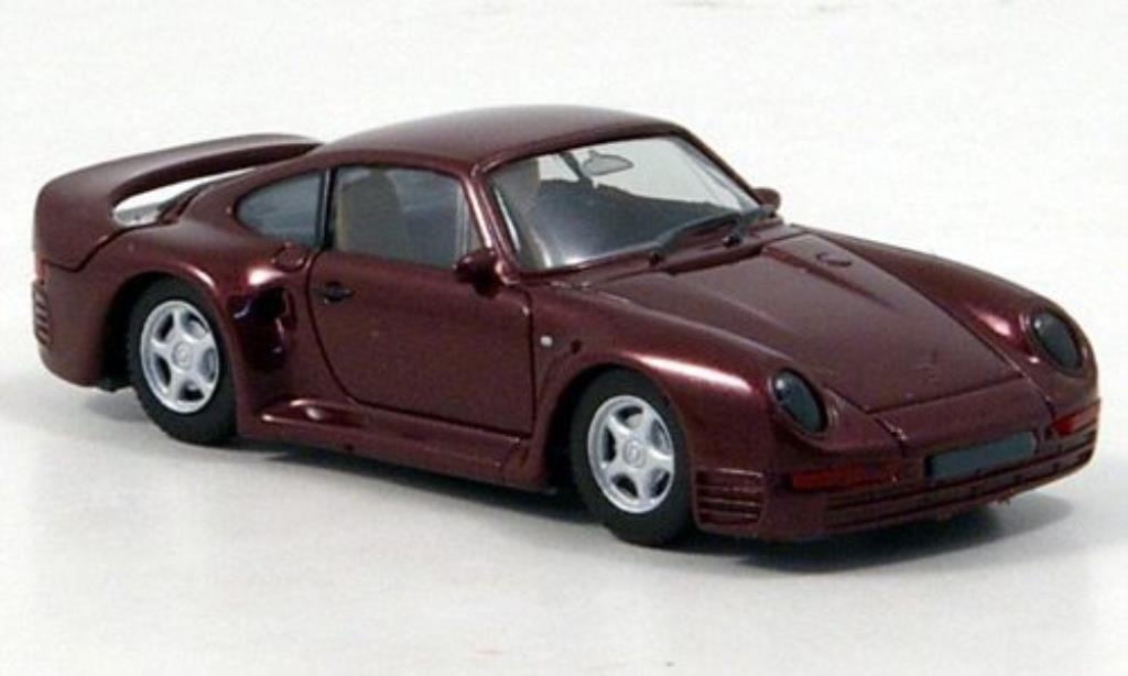Porsche 959 1/87 Herpa High Tech rouge miniature