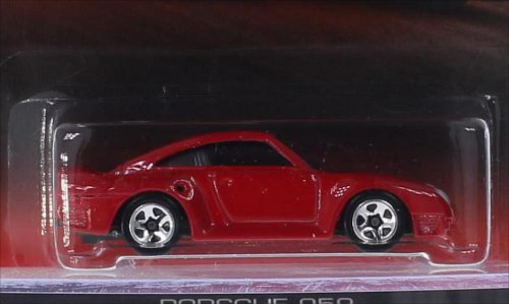 Porsche 959 1/64 Hot Wheels rouge miniature