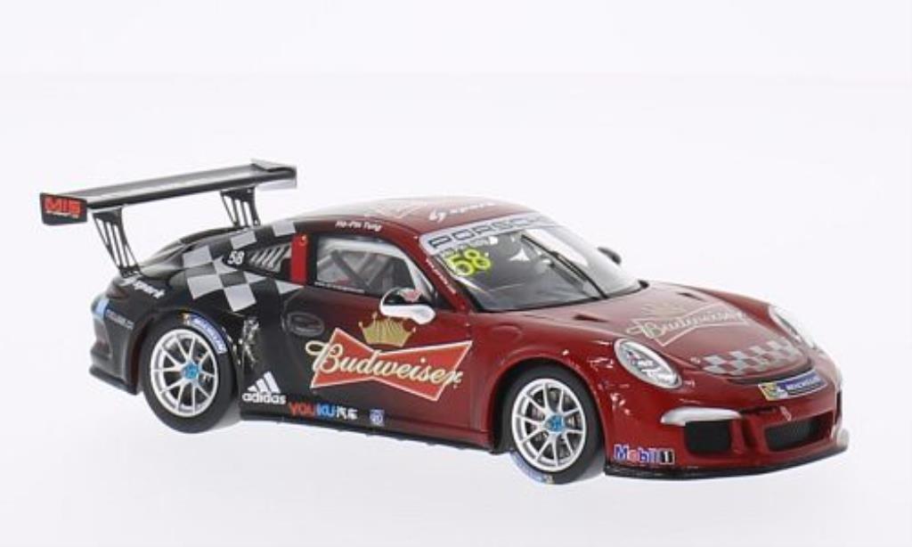 Porsche 991 GT3 Cup 1/43 Spark No.58 Budweiser PCCA 2014 diecast model cars