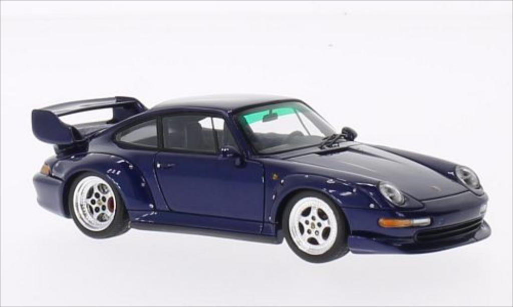 Porsche 993 1/43 Spark GT metallise bleu 1995 miniature