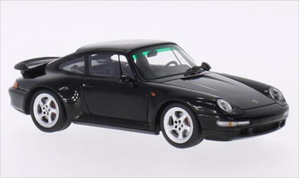Porsche 993 Turbo 1/43 Spark noire 1996 miniature