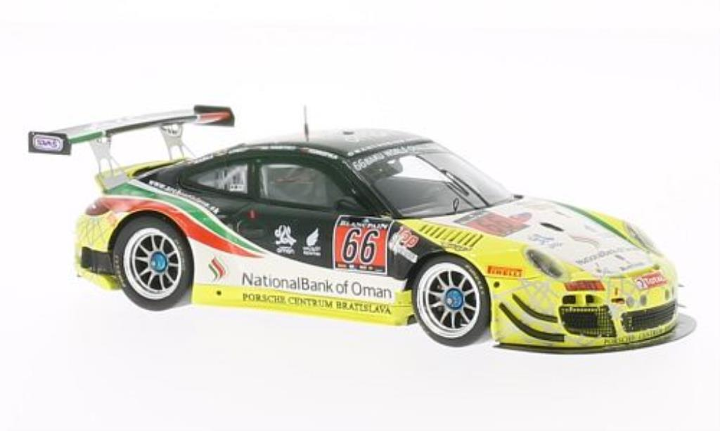 Porsche 997 GT3 1/43 Spark R No.66 Oman 24h Spa 2013 diecast model cars