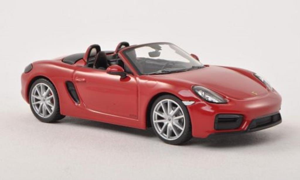 Porsche Boxster 1/43 Minichamps GTS (981) red diecast model cars