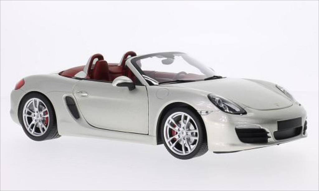 Porsche Boxster 1/18 Minichamps S (981) metallise grey 2012 diecast model cars