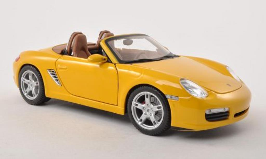 Porsche Boxster 1/18 Maisto S yellow 2005 diecast model cars