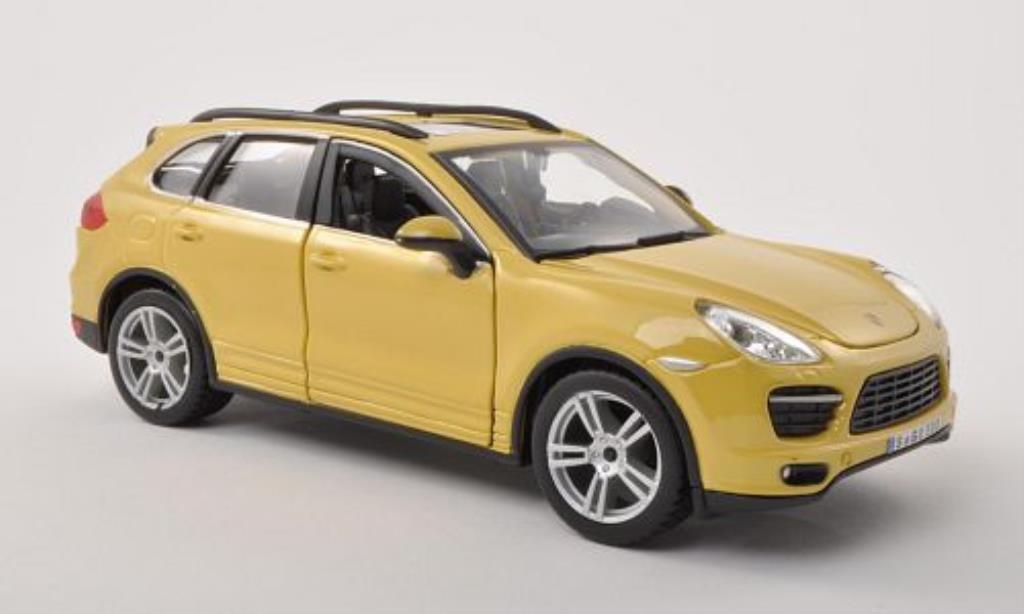 Porsche Cayenne 1/24 Burago (92A) Turbo jaune miniature