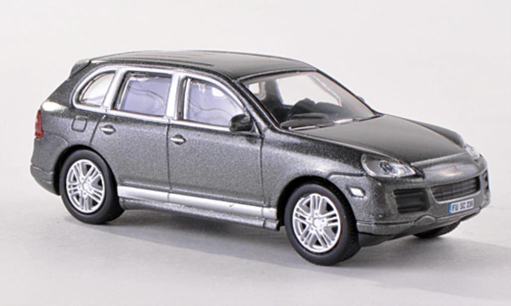 porsche cayenne s miniature 9pa grise facelift schuco 1 87 voiture. Black Bedroom Furniture Sets. Home Design Ideas