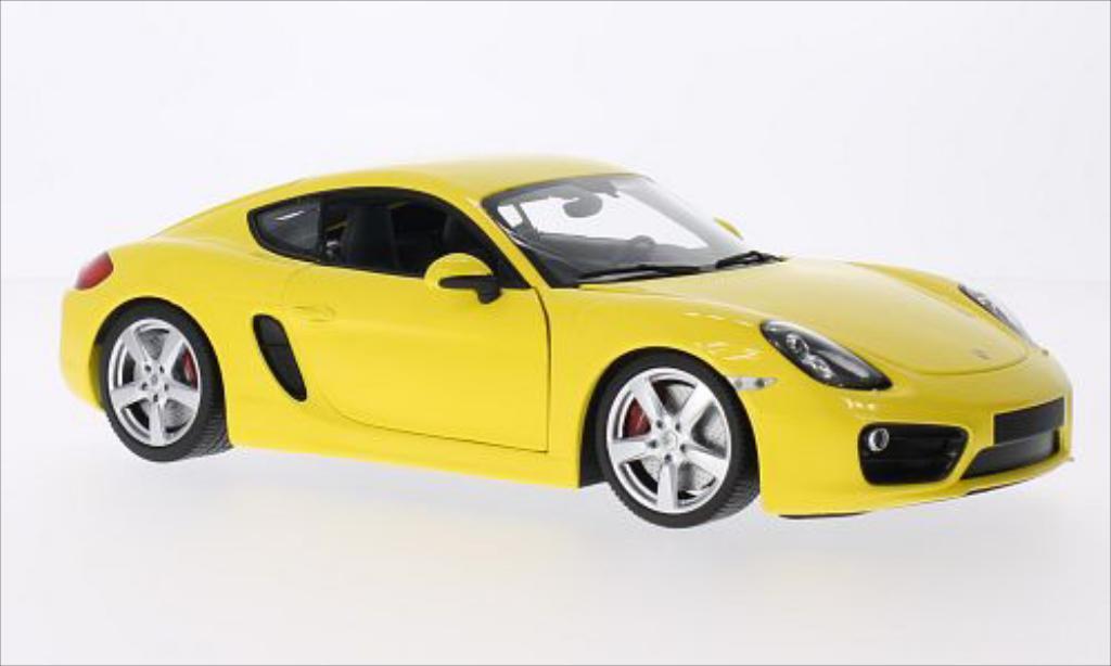 Porsche Cayman 1/18 Minichamps jaune 2013 miniature