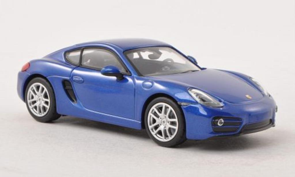Porsche Cayman 1/43 Norev bleu 2013 miniature
