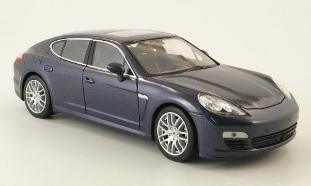 Porsche Panamera 1/24 Welly S bleugrise miniature