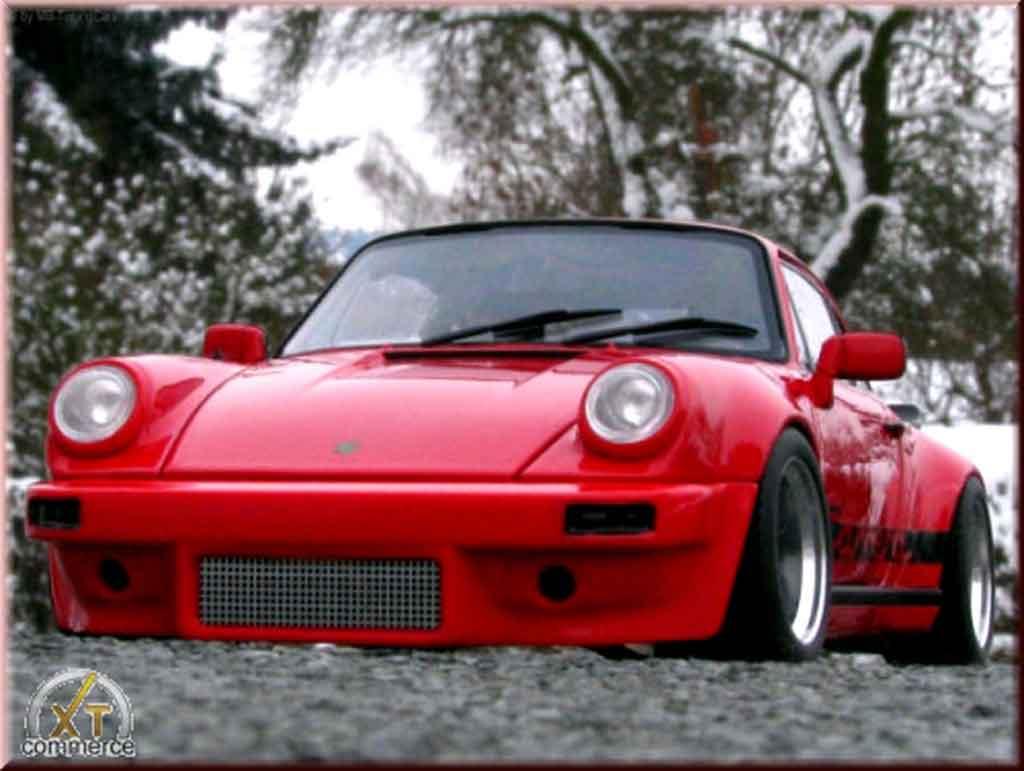 Porsche 911 RS 3.0 carrera rosso ruote fuchs 1974 tuning Autoart. Porsche 911 RS 3.0 carrera rosso ruote fuchs 1974 modellini 1/18