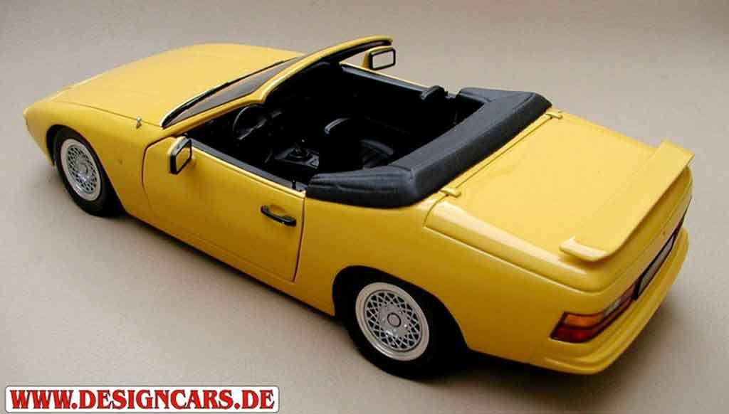 Porsche 924 1/18 Minichamps cabriolet giallo