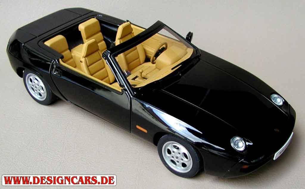 Porsche 928 1/18 Autoart cabriolet noire tuning miniature