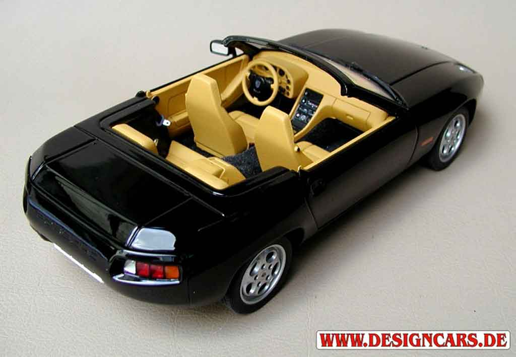 porsche 928 convertible schwarz autoart modellauto 1 18 kaufen verkauf modellauto online. Black Bedroom Furniture Sets. Home Design Ideas