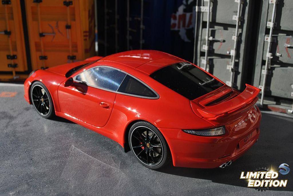Porsche 991 S 1/18 GT Spirit Carrera AEROKIT CUP red