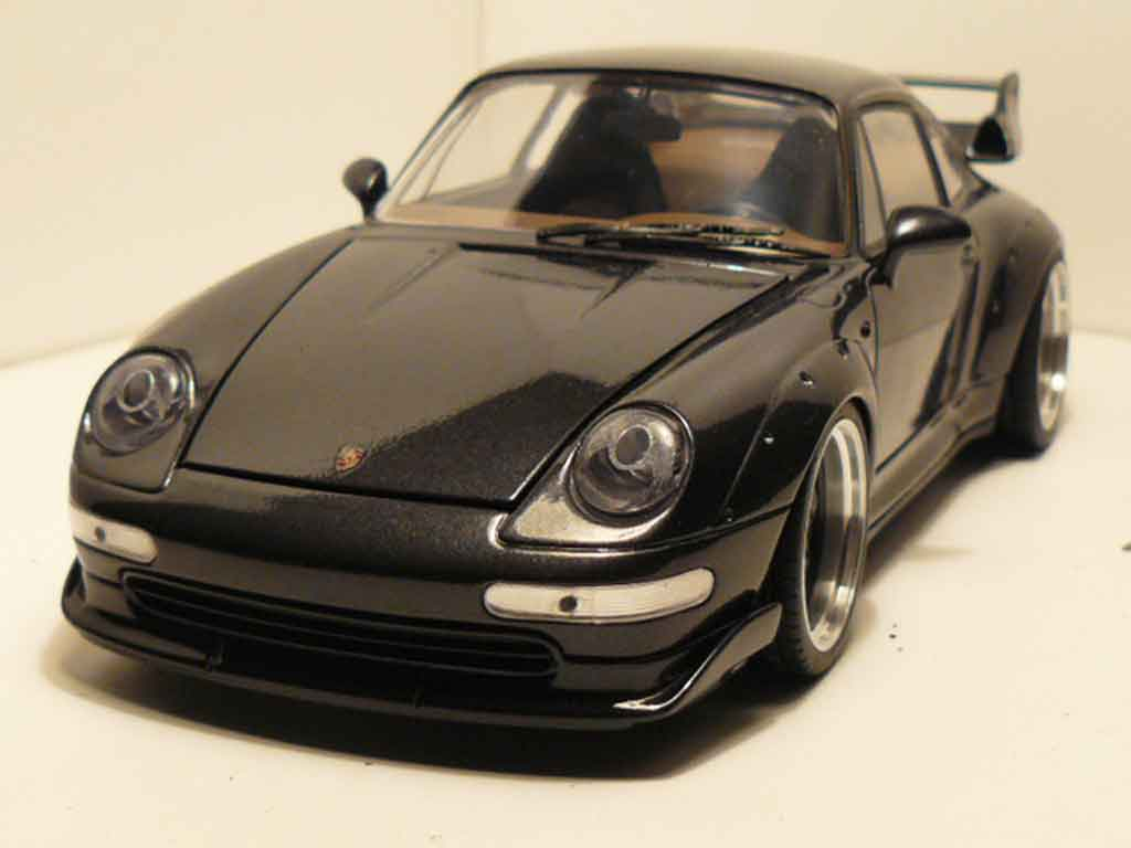 porsche 993 gt2 miniature titanium grise jantes a deport ut models 1 18 voiture. Black Bedroom Furniture Sets. Home Design Ideas