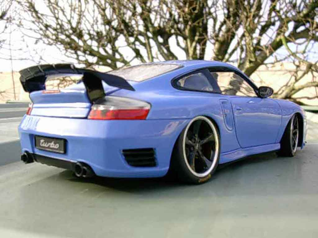porsche 996 turbo techart blau hotworks modellauto 1 18 kaufen verkauf modellauto online. Black Bedroom Furniture Sets. Home Design Ideas