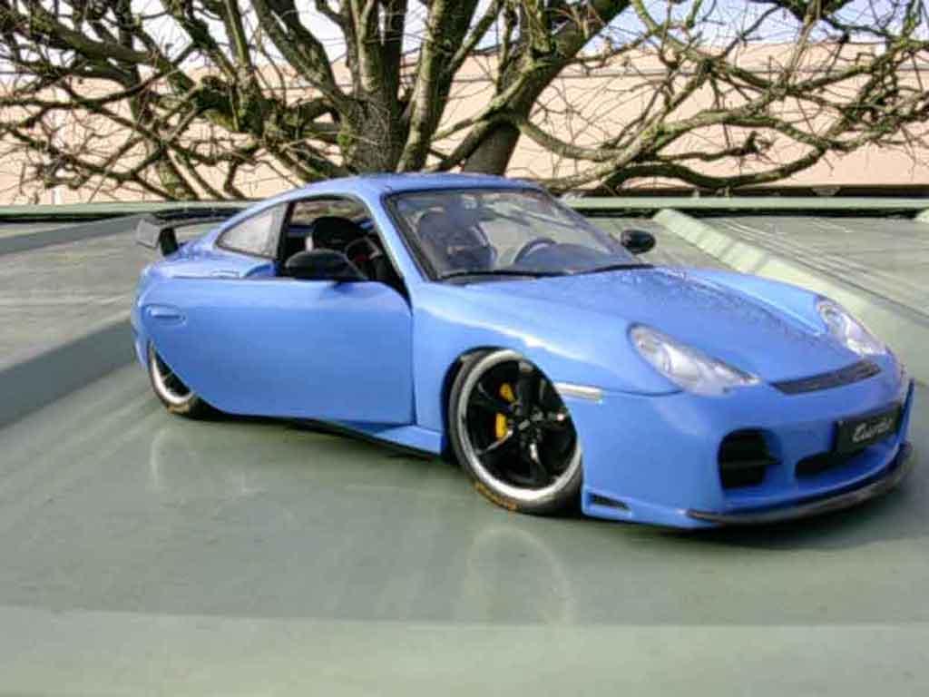 Porsche 996 Turbo 1/18 Hotworks techart blu
