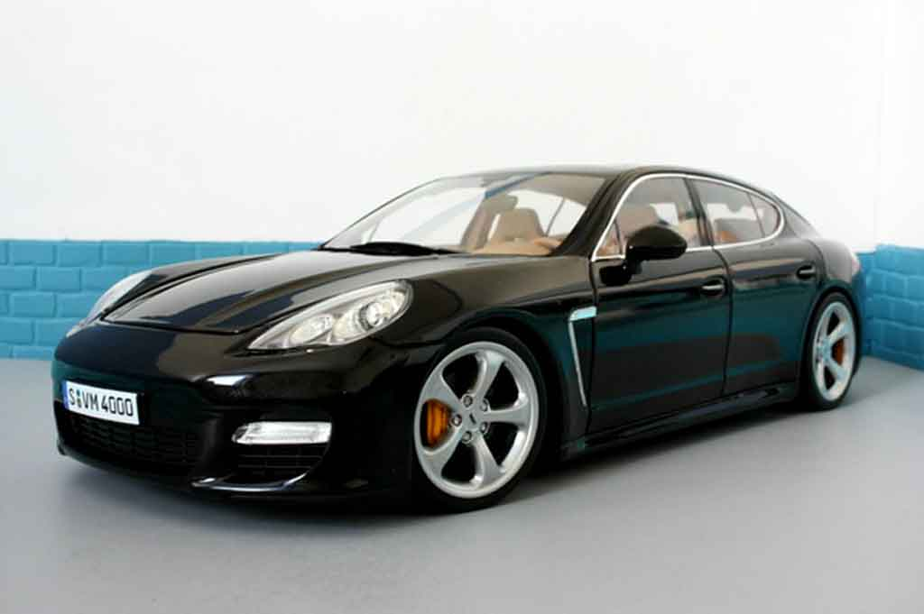 porsche panamera turbo schwarz norev modellauto 1 18. Black Bedroom Furniture Sets. Home Design Ideas