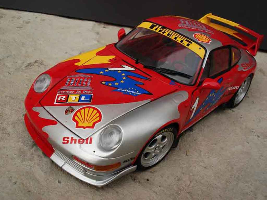 Porsche 993 GT2 1/18 Ut Models cs carrera supercup #1 miniature