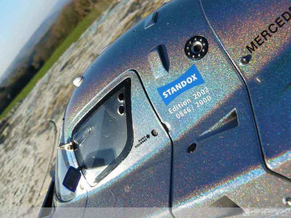 Mercedes C9 1/18 Exoto sauber liquid sliver standox edition 2002