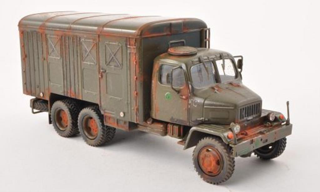 Praga V3S 1/43 Abrex Kasten olivgrun tschechische Armee mit Rostspuren modellautos