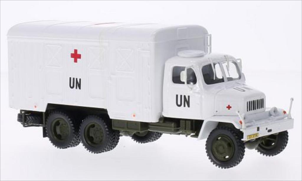 Praga V3S 1/43 Abrex Kasten UN skrinovy vuz (Container Truck) weiss modellautos