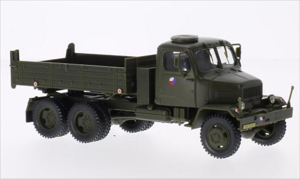 Praga V3S 1/43 Abrex Pritsche (Tipper Lorry) tschechische Armee matt-grun modellautos