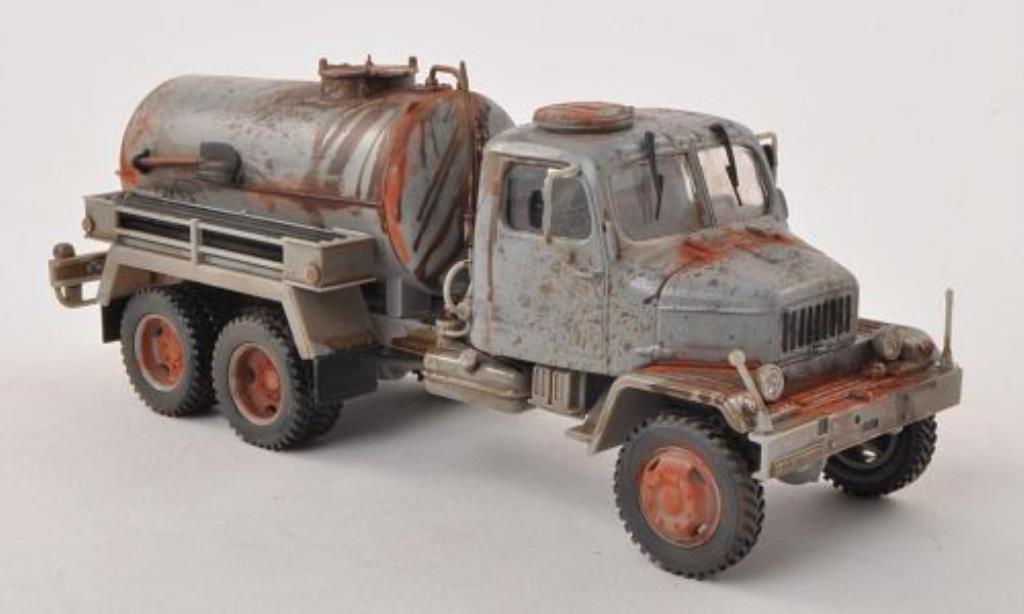Praga V3S 1/43 Abrex Tank grau mit Rost- und Betriebsspuren modellautos