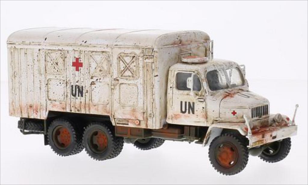 Praga V3S 1/43 Abrex weiss UN (Skrinovy vuz) modellautos