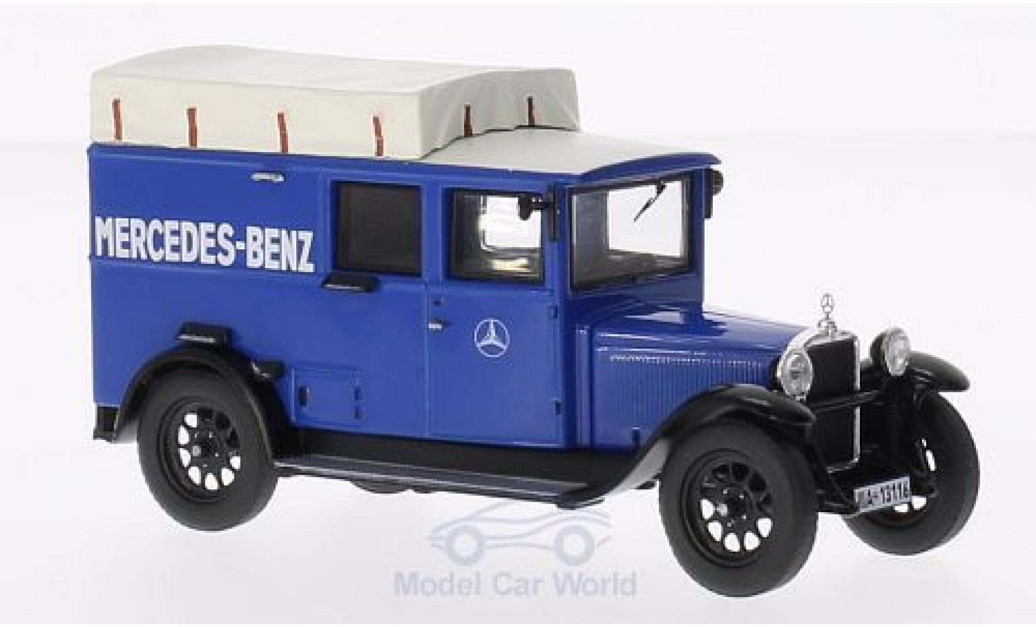 Mercedes L1000 1/43 Premium ClassiXXs Express bleue MB-Kundendienst (mit Fenster)