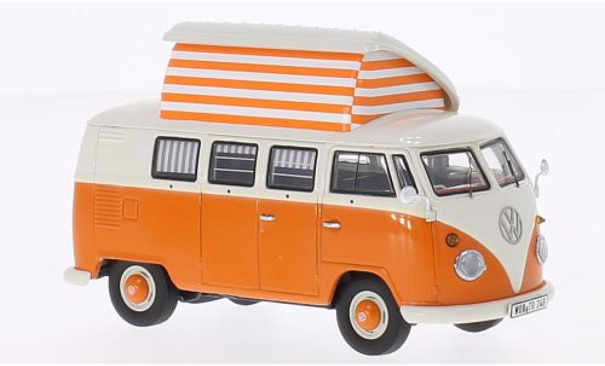 Volkswagen T1 1/43 Premium ClassiXXs Camping orange/weiss