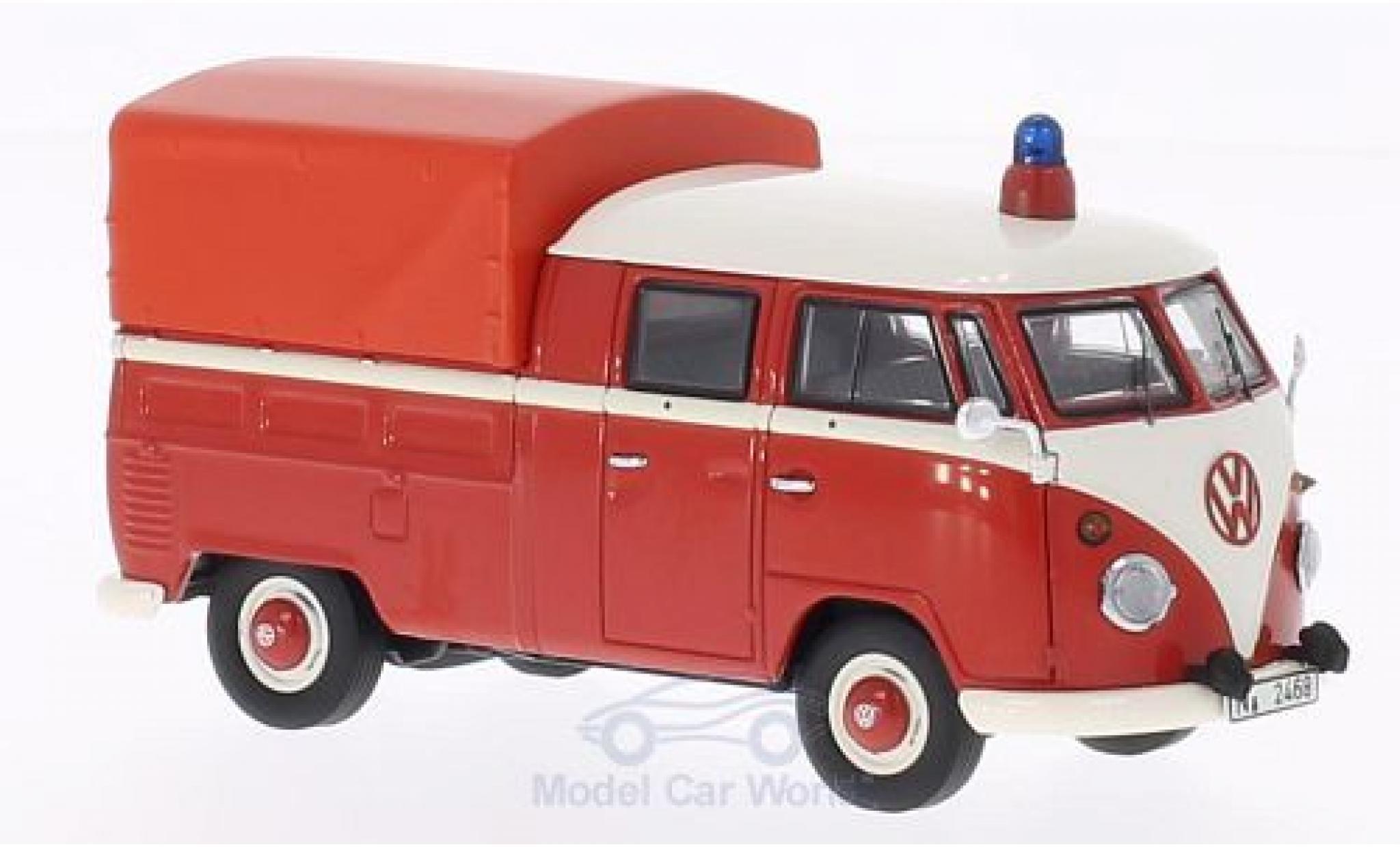 Volkswagen T1 B 1/43 Premium ClassiXXs Doppelkabine mit Plane Feuerwehr