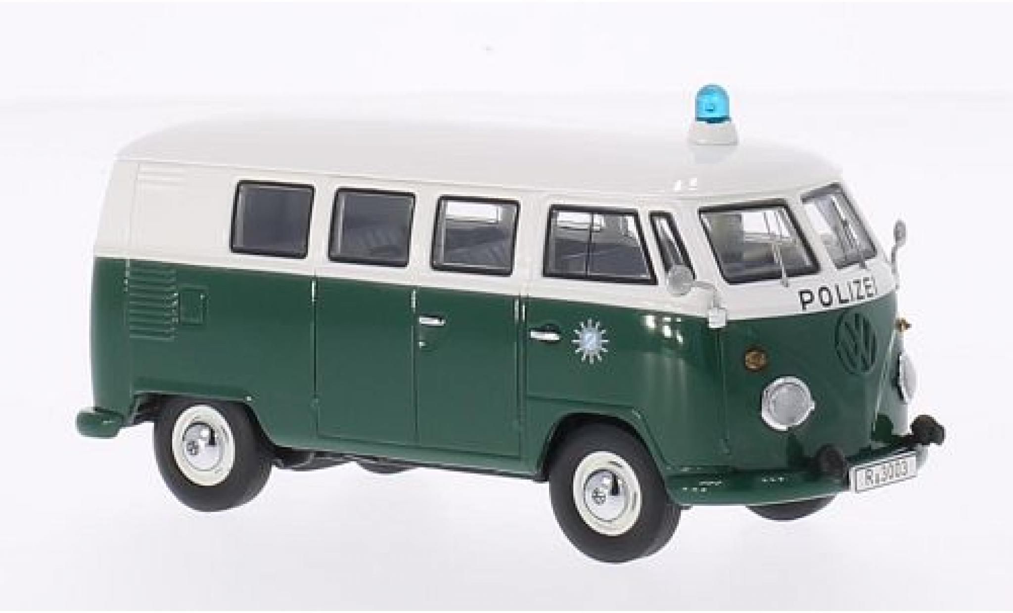Volkswagen T1 1/43 Premium ClassiXXs verte/blanche Polizei bus
