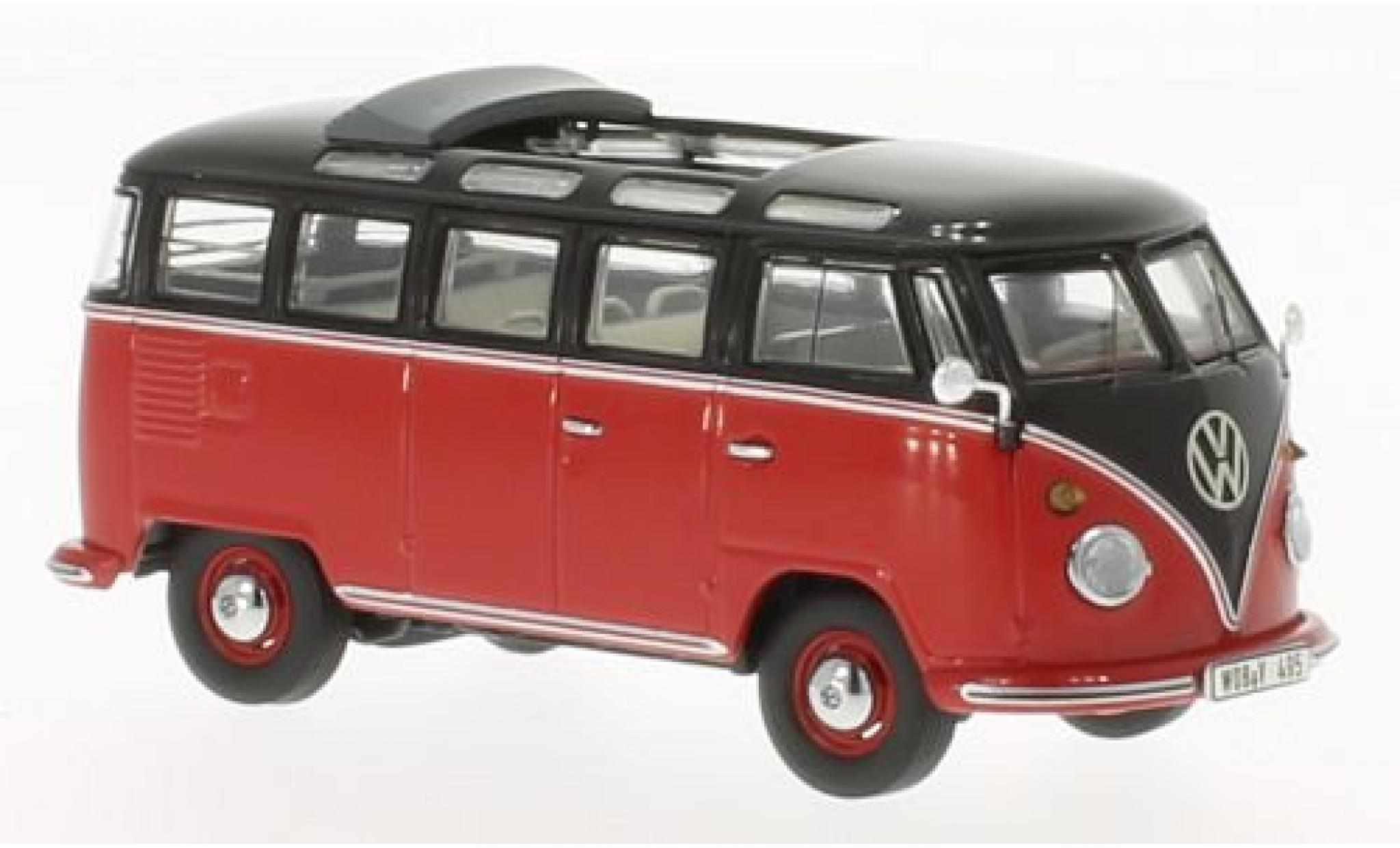 Volkswagen T1 1/43 Premium ClassiXXs Samba rot/schwarz