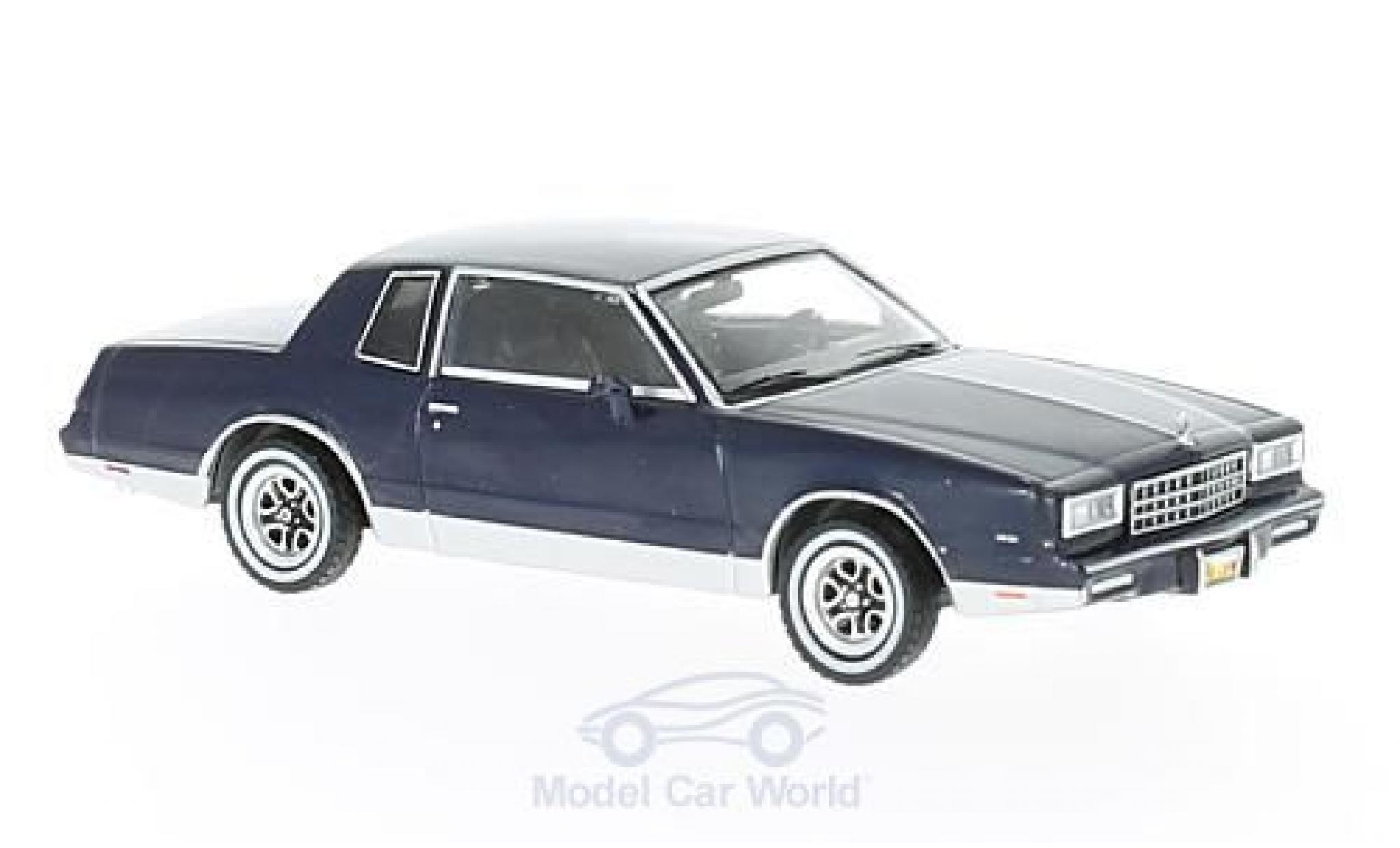 Chevrolet Monte Carlo 1/43 Premium X bleue 1981