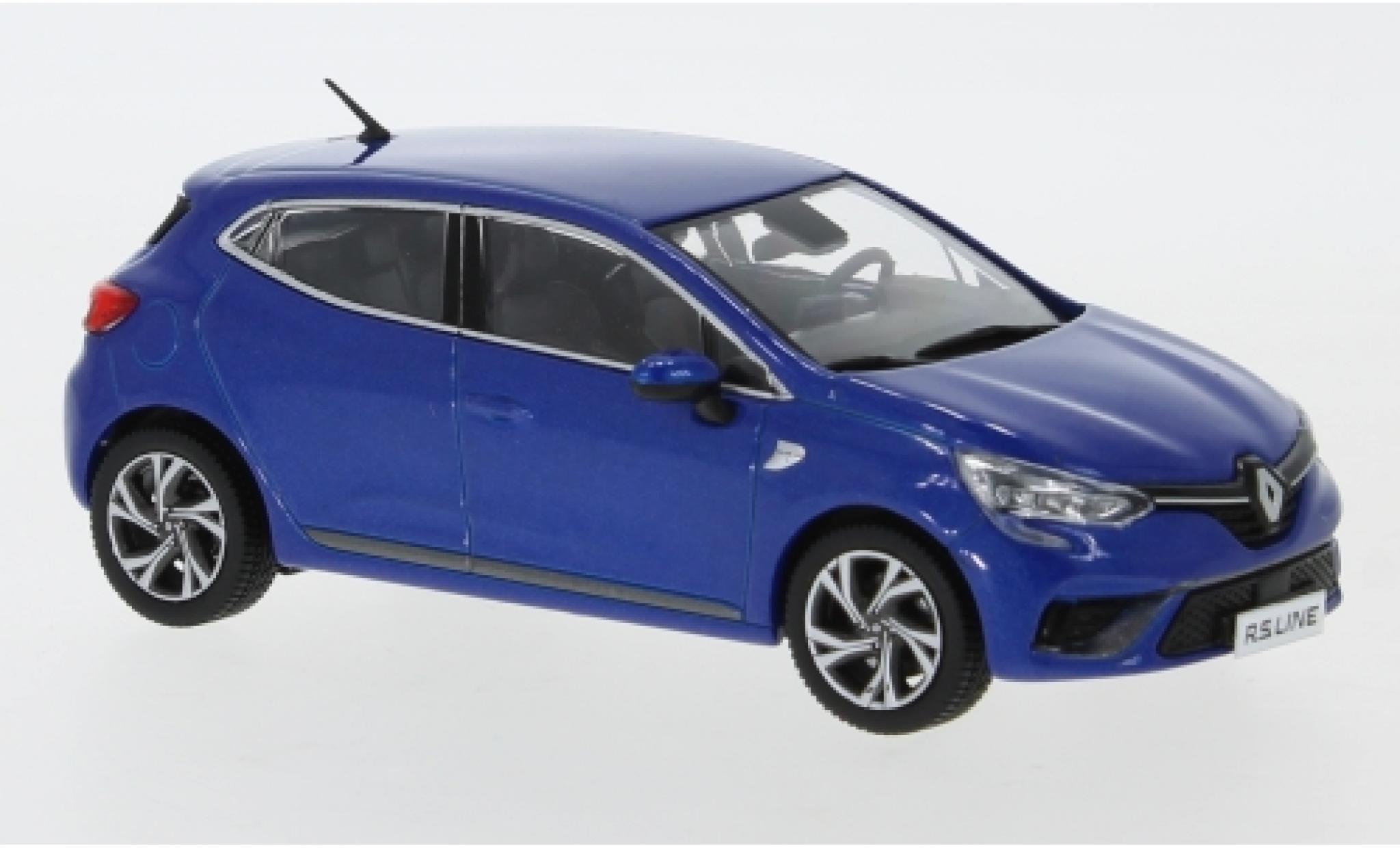 Renault Clio 1/43 Premium X RS Line metallise bleue 2019