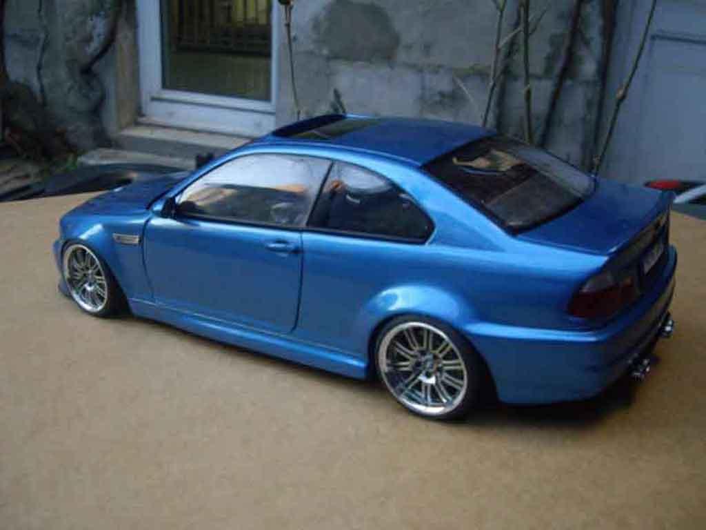 bmw m3 e46 tuning miniature kit carrosserie bleu metallized autoart 1 18 voiture. Black Bedroom Furniture Sets. Home Design Ideas
