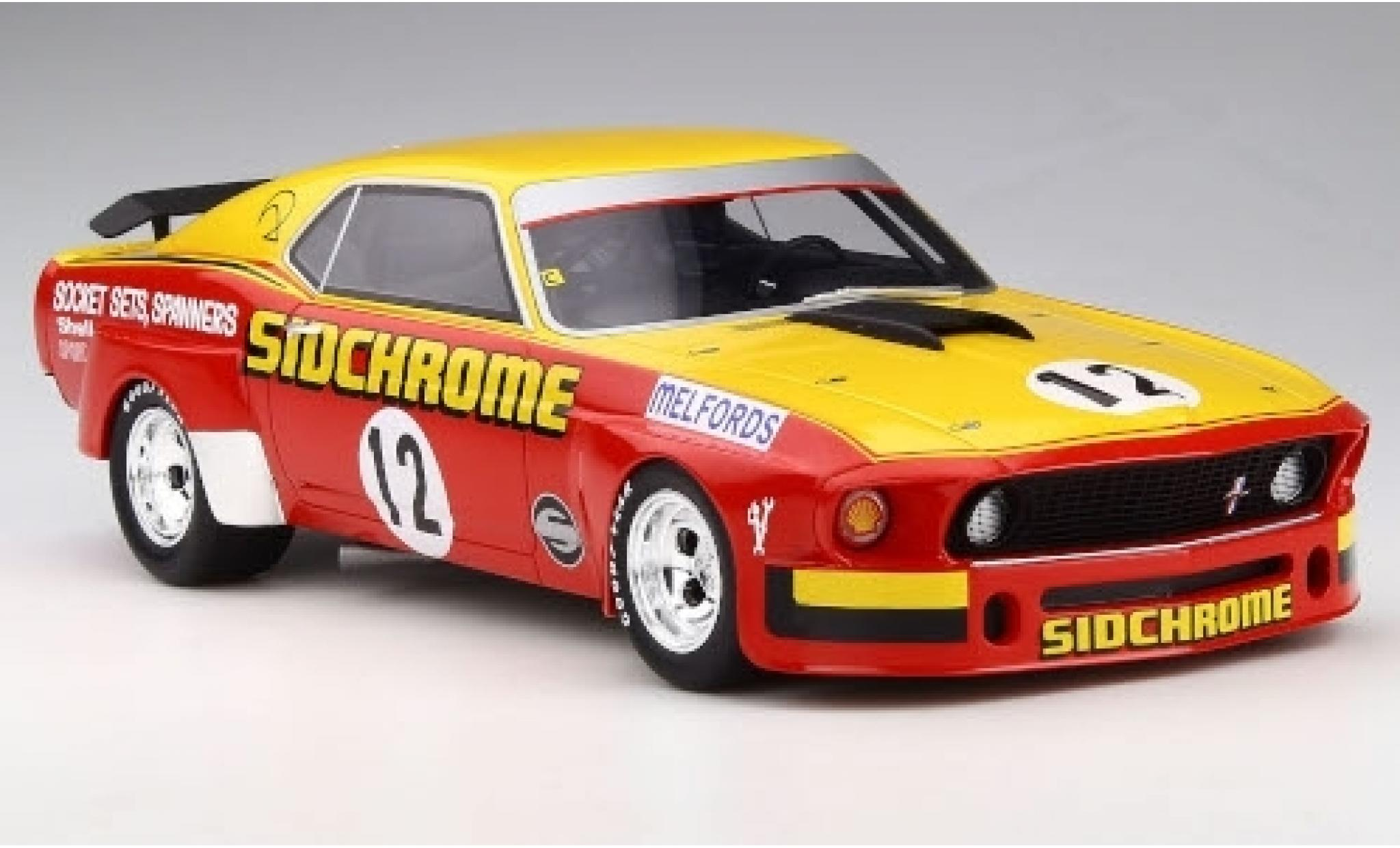 Ford Mustang 1/18 RAR   Real Art Replicas No.12 Sidchrome 1969 J.Richards/B.Stroppe