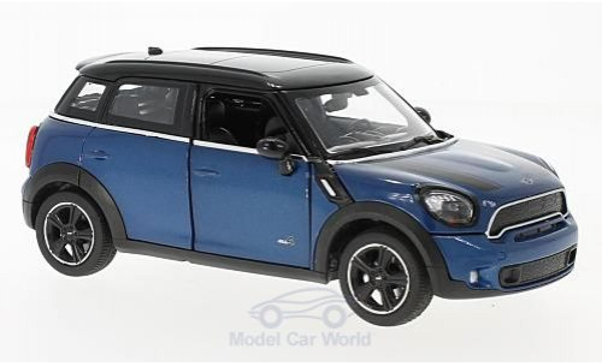 Mini Cooper 1/24 Rastar S Countryman (R60) metallise bleue