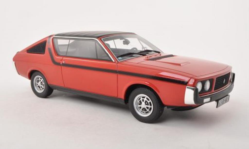 renault 17 miniature ts rouge noire 1977 ottomobile 1 18 voiture. Black Bedroom Furniture Sets. Home Design Ideas