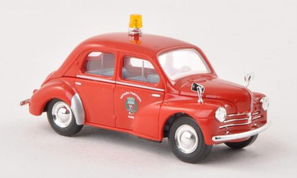 Renault 4CV 1/87 Busch Feuerwehr Paris (F) 1958 miniatura