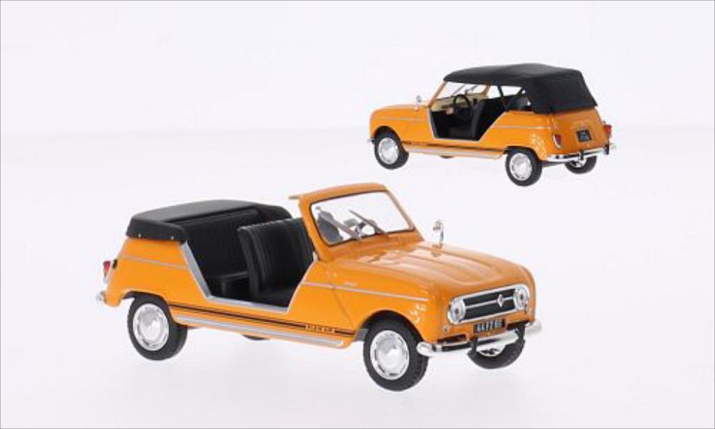 Miniature Renault 4L Plein Air orange 1968 Norev. Renault 4L Plein Air orange 1968 miniature 1/43