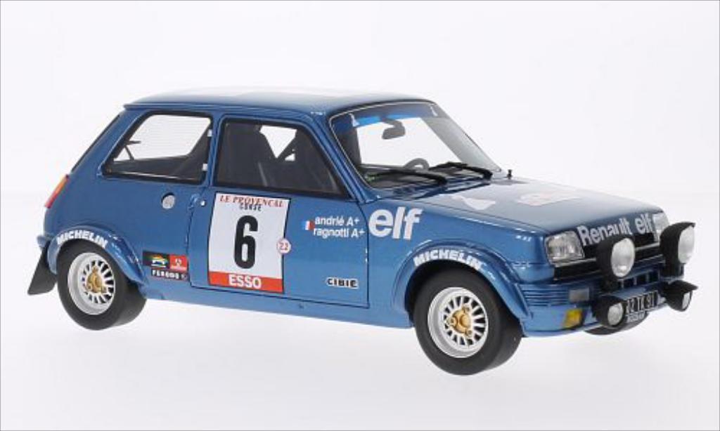 Renault 5 Alpine 1/18 Ottomobile Gruppe 2 No.6 Gitanes Tour de Corse 1979 miniature